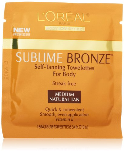 Price comparison product image L'Oreal Paris Sublime Bronze Self-Tanning Body Towelettes, 6 Count