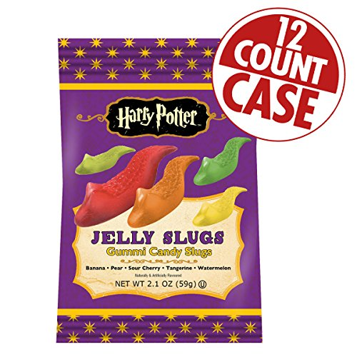 Jelly Belly Harry Potter Jelly Slugs - 2.1 oz Bag - 12 Count - Full Case ()