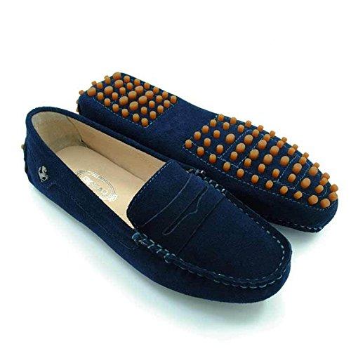 Women's Fashion Comfortable Driving Shoes(Blue) - 8