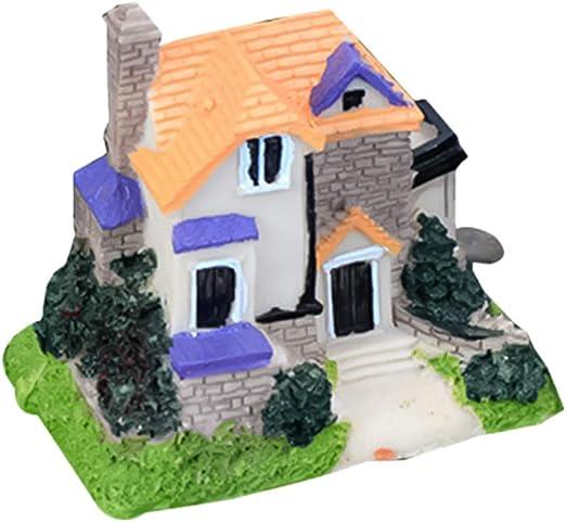 Yardwe 1 PCS Miniatura de Jardín de Hadas Casa Jardín Miniatura Kit Casa de Muñecas Decoración Micro Paisaje Decoración Adornos Kit (Villa, Estilo Aleatorio): Amazon.es: Jardín