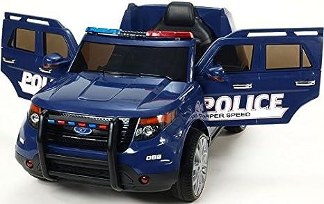 Ataa Cars Voiture De Police Fbi 12v Voiture électrique Pour Enfants Bleu Amazon Fr Jeux Et Jouets