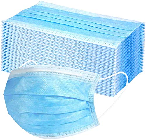 LEMSIR 20 Pcs Disposable – Three Layer Breathable with Earloops Comfortable – Anti Dust Blue