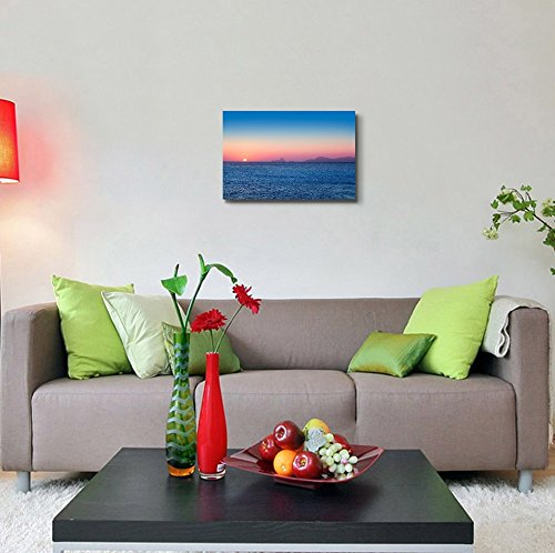 Beautiful Sunset Seascape with Mountian from Afar Home Deoration Wall Decor ing