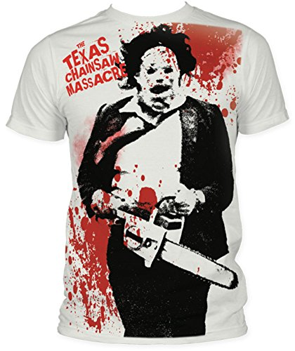 SUBTCM02 Men's Texas Chainsaw Massacre Splatter Subway T-shirt, Vintage White, XX-Large (Horror Tshirts)