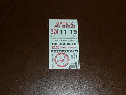 Louis Cardinals Tickets (1968 ST. LOUIS CARDINALS (N.L. CHAMPS) TICKET STUB VS REDS CARDINALS WIN)