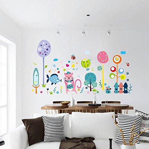 Mkxiaowei Decoracin de la habitacin de las etiquetas engomadas de la historieta del PVC murales infantiles de pared adhesivos decorativos