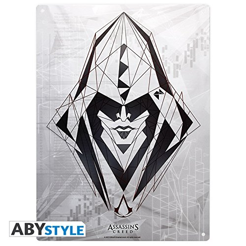 28x38 ABYstyle Plaque m/étal Assassin Assassins Creed