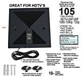 Trisonic Flat Digital Indoor HDTV Antenna Best HDTV Antenna Get Free