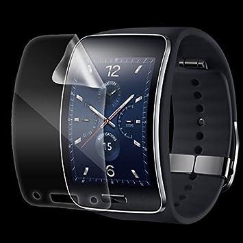 """Funnytech@ Protector de Pantalla Transparente para Samsung Galaxy Gear S """"Diseño Plano"""""""