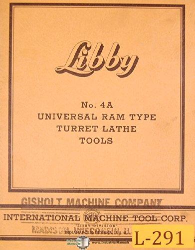 (Libby Gisholt 4A, Ram Type turret Lathe, Tools Manual)