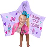 Nickelodeon JoJo Siwa Follow Your Dreams Super Soft & Absorbent Kids Hooded Bath/Pool/Beach Towel- Fade Resistant Cotton Terry Towel, 22.5'' Inch x 51'' Inch (Official Nickelodeon Product)