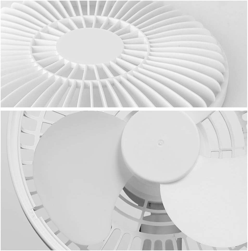 Home Office School Holiday Camping-White GJF USB Desktop Fan Silent Mini Charging Elevation Angle Can Adjust The Amount of Wind 4 Speed ​​Wind Adjustable