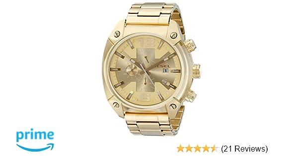 d55712fb07be Amazon.com  Diesel Men s DZ4299 Overflow Gold-Tone Stainless Steel Watch   Diesel  Watches