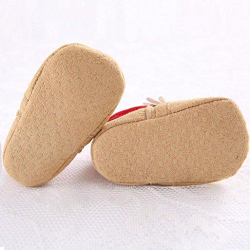 Clode® Bébé de Noël bottes de neige molle chaussures crèche Walker pré sole (12~18 mois)