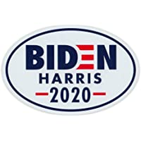 "Crazy Novelty Guy Oval Campaign Magnet, Joe Biden and Kamala Harris 2020 Logo Magnet, 6"" x 4"" Magnetic Bumper Sticker"