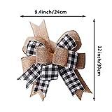 Black White Plaid Gift Bows Burlap Wreaths Bows
