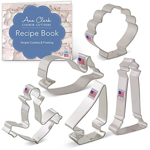 - Ann Clark Cookie Cutters 5-Piece Nautical Cookie Cutter Set with Recipe Booklet, Anchor, Sailboat, Lighthouse, Seashell and Whale
