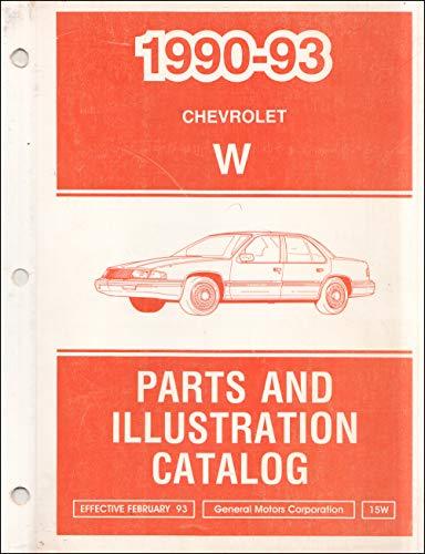 1990-1993 Chevrolet Lumina Car Parts Book Original