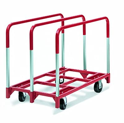 "Raymond 3860 Steel Panel Mover with 3 Standard Upright and 6"" x 2"" Phenolic Caster, 2400 lbs Capacity, 41"" Length x 32"" Width x 9"" Height"