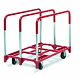 Raymond 3850 Steel Panel Mover with 3 Standard Upright and 5'' x 2'' Phenolic Casters, 2400 lbs Capacity, 41'' Length x 32'' Width x 9'' Height