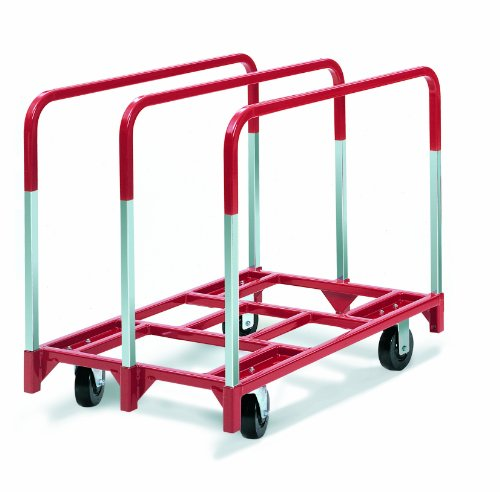 Raymond-3850-Steel-Panel-Mover-with-3-Standard-Upright-and-5-x-2-Phenolic-Casters-2400-lbs-Capacity-41-Length-x-32-Width-x-9-Height
