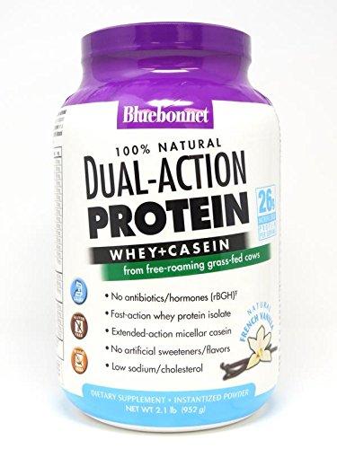 Bluebonnet Nutrition 100% Natural Dual Action Protein Powder
