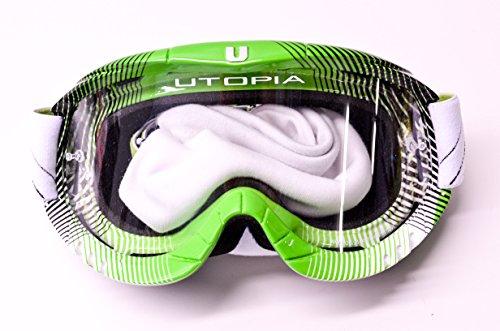(Utopia Slayer Pro Mx Green Fade Stripes Goggles)
