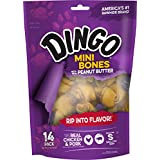 Dingo Peanut Butter Flavored Mini-Bone Treats With Real Chicken And Pork, 14 Count