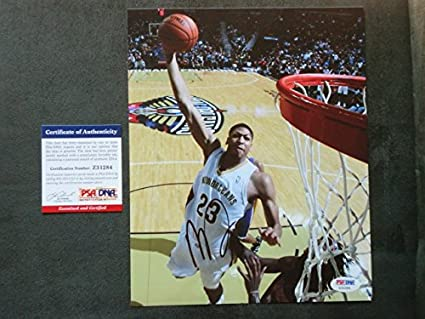 c81d2dfdf04 Anthony Davis Hot! signed New Orleans Pelicans 8x10 photo PSA DNA cert