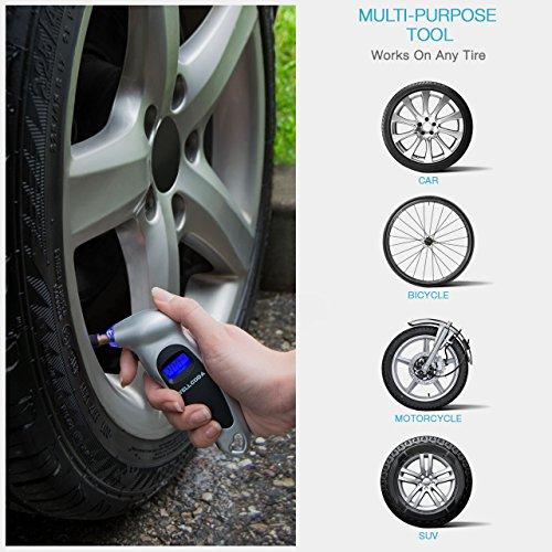 Wellcoda 차량용 타이어 압력 게이지 150 PSI - 디지털 배터리, ..
