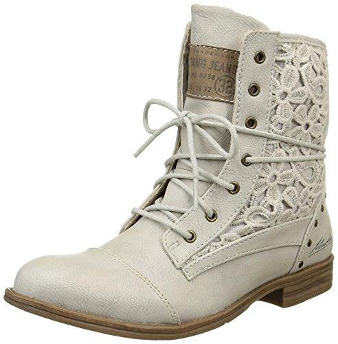 Mustang 1157527, botas de tobillo Mujer Blanc Cassé (203 Ice)