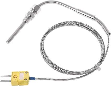 1 m EGT Thermoelement K Typ f/ür Abgas-Temperatursonde mit freiliegender Spitze /& Anschluss 1//8 Zoll NPT