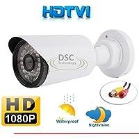 HD-TVI High Definition 1080P 2MP CCTV Bullet Security Camera: 19201080 HD Resolution, 3.6mm wide angle Lens, 30x IR LEDs For 100 Feet Night Vision, IR-Cut, 1/3 SONY IMX222 CMOS Image Sensor
