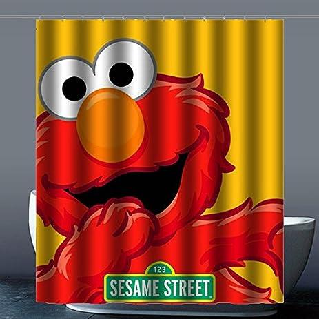 Hot Kitchen Generic Sesame Street Machine Washable Custom Shower Curtain 60quot