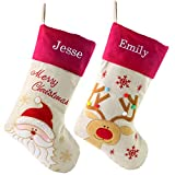 WEWILL Personalized Christmas Stockings Home Decorations Stockings for Family (Color 1)