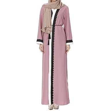 Dresses Dubai Lace Cardigan Muslim Women Open Front Robe Islamic Maxi Dress Kaftan Abaya Special Buy