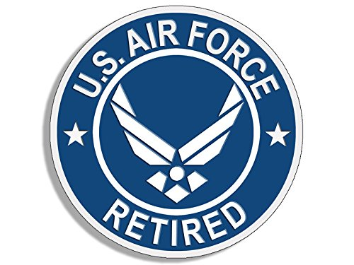 (American Vinyl Round U.S. Air Force Retired Sticker (USAF Bumper)