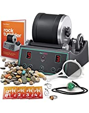 Advanced Professional Rock Tumbler Kit - with Digital 9-day Polishing timer & 3 speed settings - Turn Rough Rocks into Beautiful Gems : Great Science & STEM Gift for Kids all ages : Geology Toy