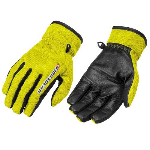 Firstgear Street Bike - FirstGear Ultra Mesh Men's Vented Textile/Leather Street Bike Motorcycle Gloves - DayGlo / Medium