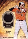 2017 Topps Tier One Relics #T1R-MM Manny Machado Game Worn Baltimore Orioles Jersey Baseball Card - Only 331 made!