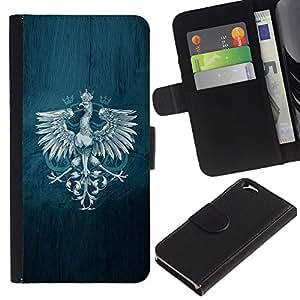 KingStore / Leather Etui en cuir / Apple Iphone 6 / Royal Eagle Crest