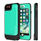 Punkjuice iPhone 8/7/6s/6 Battery Case - Waterproof Slim Portable Power Juice Bank W/ 3000mAh High Capacity - Fastcharging - 120% Extra Battery Life for Apple iPhone 6/6s/7/8 (Teal)