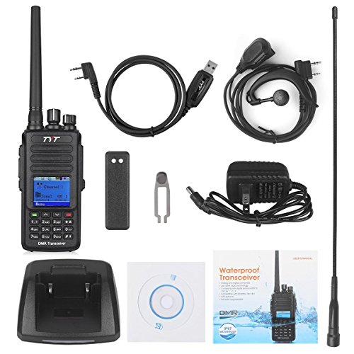 TYT Tytera Upgraded MD-390 DMR Digital Radio, with GPS Function! Waterproof Dustproof IP67 Walkie Talkie Transceiver, UHF 400-480MHz Two-Way Radio, Compatible with Mototrbo, with 2 Antenna, Black by TYT (Image #6)