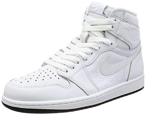 White Air Jordans (Jordan Nike Men's Air 1 Retro High OG White/Black White Basketball Shoe 11 Men US)