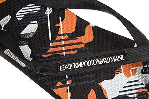 Emporio Armani EA7 Herren Gummi Flip Flops Zehentrenner Sandalen sea world camou