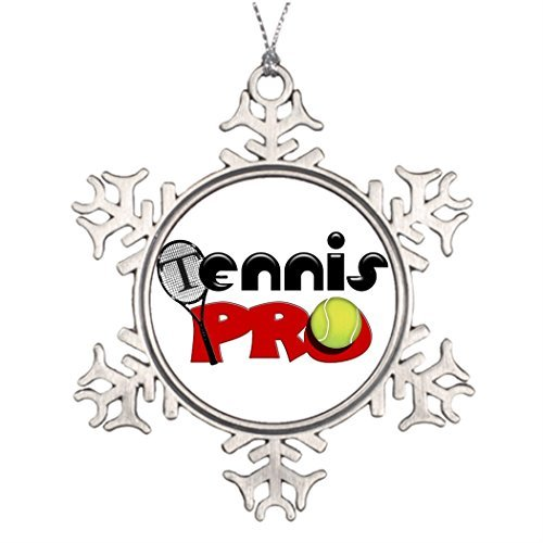Metal Ornaments Tree Branch Decoration Tennis Racket Halloween Tree Snowflake Ornaments -