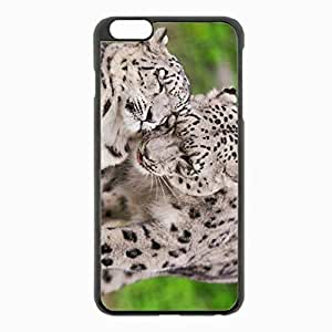 iPhone 6 Plus Black Hardshell Case 5.5inch - snow leopard steam tenderness caring predators Desin Images Protector Back Cover