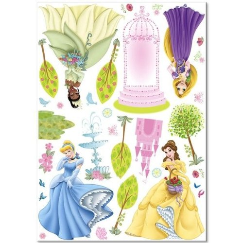 New Art DISNEY PRINCESS BiG Wall Decals Rapunzel Belle Cinderella Room Decor Stickers ()