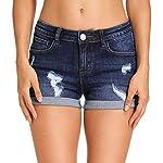 Women's Juniors Mid Rise Jean Shorts Folded Hem Denim Shorts for Women
