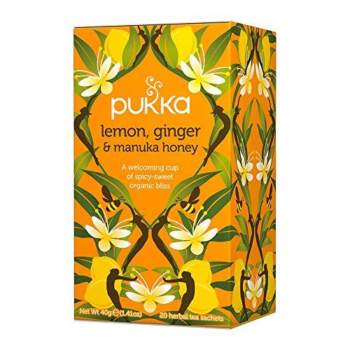 Organic Lemon Ginger and Manuka Honey Tea (Pukka Sampler)